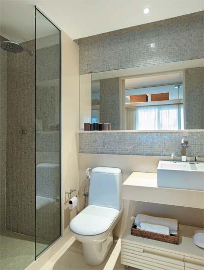 Banheiro claro e sofisticado « Decoração « Arquitetura + Interiores -> Banheiro Pequeno Sofisticado